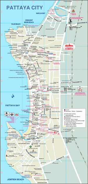 КАРТА ПАТТАЯ_ПАТТАЙЯ_PATTAYA MAP