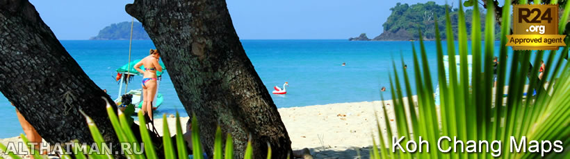 Bailan Beach Map, Koh Chang Maps