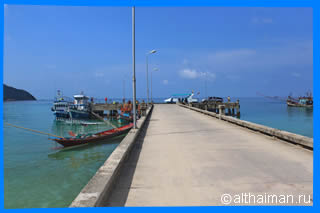 The Chaloklum pier Photo