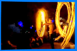 fire show  In Jungle Experience